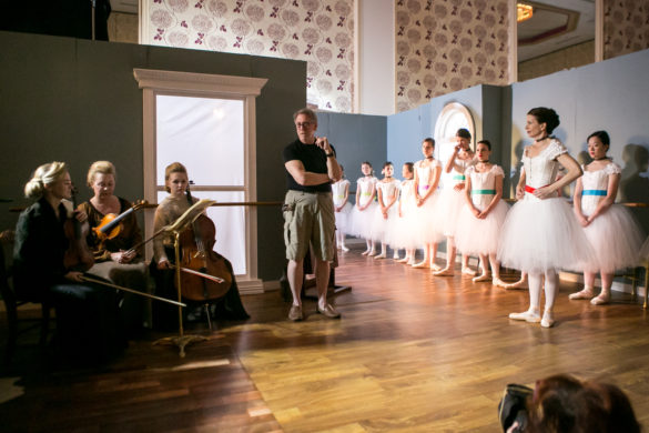 Behind the scenes of David Edmonson shoot with ballerinas.